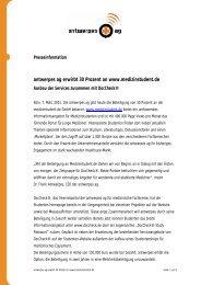 antwerpes ag erwirbt 30 Prozent an www ... - DocCheck AG