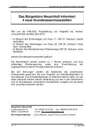 Das Bürgerbüro Neuschloß informiert 4 neue ...