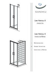 linie vertical ii pendeltür linie vertical ii pendeltür/wand - Saniku