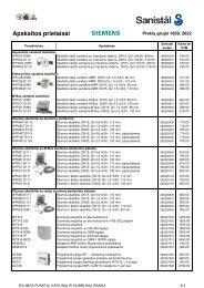 Apskaitos prietaisai 9.3-9.4 - Sanistal