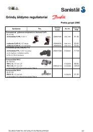 Grindų šildymo reguliatoriai 8.2 - 8.4 - Sanistal