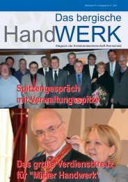 Das bergische HandWERK - Elektro-innung-rs.de