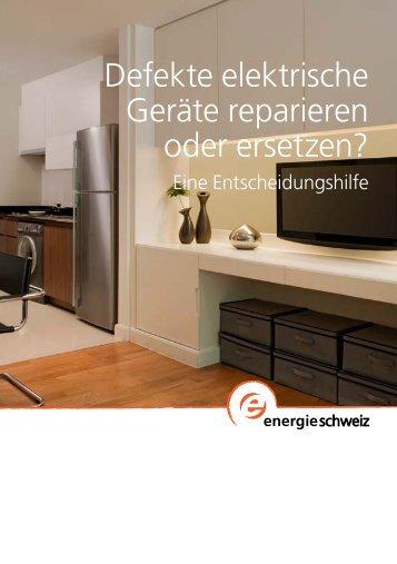 Defekte elektrische Geräte reparieren oder ersetzen?