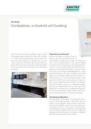Grundsätzliches zu Kreativität und Gestaltung - Sanitas Troesch AG