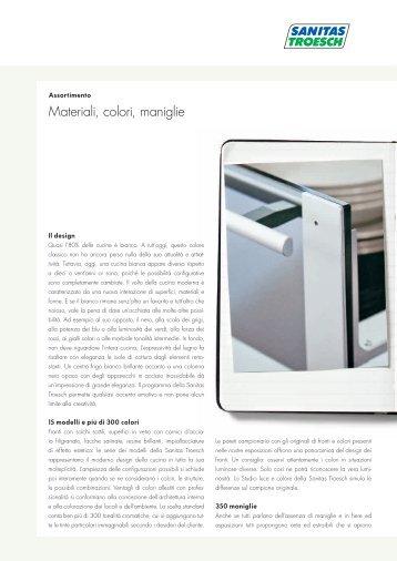 Materiali, colori, maniglie - Sanitas Troesch AG