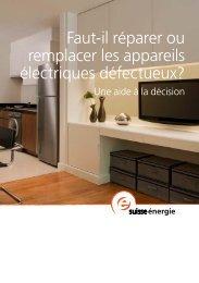 Faut-il réparer ou remplacer les appareils électriques défectueux?