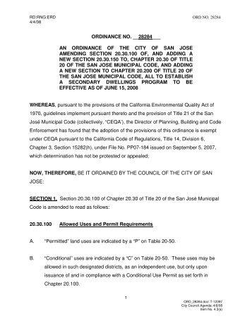 Ordinance No. 28284 - City of San José