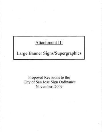 Attachment 3 – Large Banner Signs/Supergraphics - City of San José