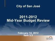Presentation - City of San José