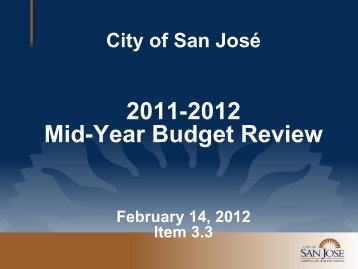 Presentation - City of San José