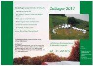 Anmeldung Zeltlager 2012 - St. Benedikt Lengerich