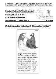 GOTTESDIENSTORDNUNG Sonntag, 18. Juli AD ... - Sankt Engelbert