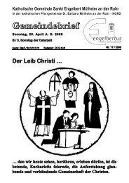 GOTTESDIENSTORDNUNG Sonntag,26. April AD ... - Sankt Engelbert