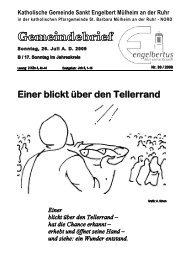 GOTTESDIENSTORDNUNG Sonntag, 26. Juli AD ... - Sankt Engelbert