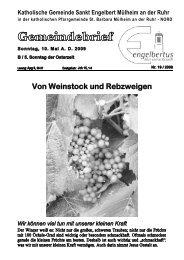 GOTTESDIENSTORDNUNG Sonntag, 10. Mai AD ... - Sankt Engelbert