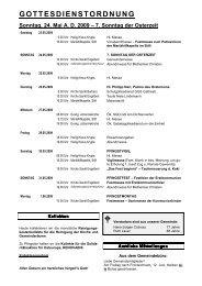 GOTTESDIENSTORDNUNG Sonntag, 24. Mai AD ... - Sankt Engelbert
