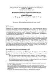 Regeln zur Sicherung guter wissenschaftlicher Praxis und ...
