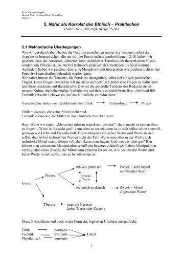 5. Natur als Korrelat des Ethisch – Praktischen - Philosophisch ...