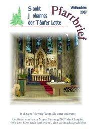 Sankt Johannes der Täufer Lette - St. Johannes Lette