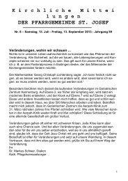 Kimi 06 2013 als PDF zum runterladen - Kirchengemeinde St. Josef