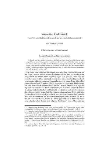 Intransitive Kirchenkritik - von St. Ludwig