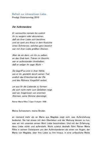 Befreit zur intransitiven Liebe - von St. Ludwig