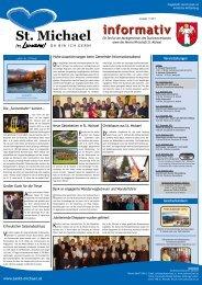 Informativ November 2011 - Verein Wirtschaft St. Michael