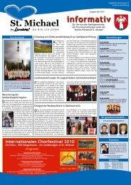 Informativ Mai 2010 - Verein Wirtschaft St. Michael