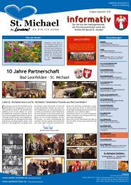 Informativ September 2010 - Verein Wirtschaft St. Michael