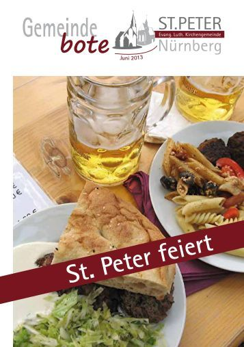Gemeindebote Juni 2013 - Kirchengemeinde St. Peter