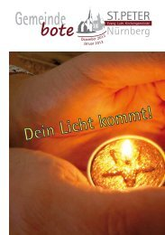 Gemeindebote Dezember 2012 / Januar 2013 - Kirchengemeinde St ...