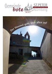 Gemeindebote Mai 2013 - Kirchengemeinde St. Peter