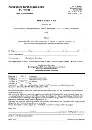 Vertrag für Saal Helena - St. Petrus