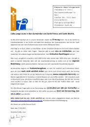 Firmkurs 2013-14 Einladung - St. Petrus