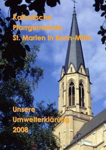 Umwelterklärung St. Marien - St. Petrus