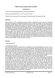 Die alles entscheidende Einheit und die wahre Ökomene (PDF)