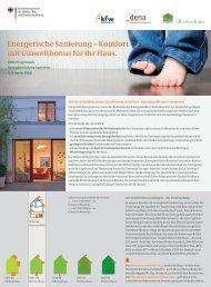 Energetische Sanierung – Komfort mit Umweltbonus für Ihr Haus.