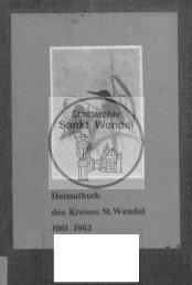 9. Ausgabe: 1961/62 - Stadt St. Wendel