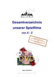 Gesamtverzeichnis unserer Spielfilme - Stadt St. Wendel