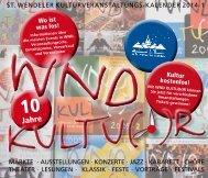 st. wendeler kulturveranstaltungs-kalender 2014 ... - Stadt St. Wendel