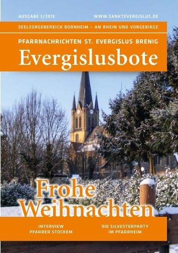 Evergislusbote 3/2013 als PDF zum Herunterladen - Sankt Evergislus