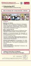 Patiententag 2011 - St. Georg