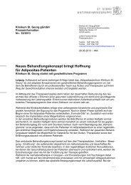 Neues Behandlungskonzept bringt Hoffnung für ... - St. Georg