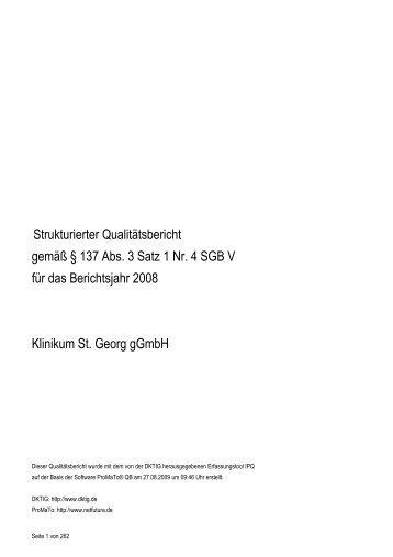 Strukturierter Qualitätsbericht gemäß § 137 Abs. 3 Satz 1 ... - St. Georg