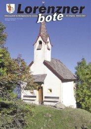 Lorenzner Bote - Ausgabe Oktober 2007 (2,21 MB) (0 bytes)