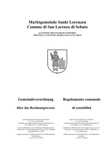 Marktgemeinde Sankt Lorenzen Comune di San Lorenzo di Sebato