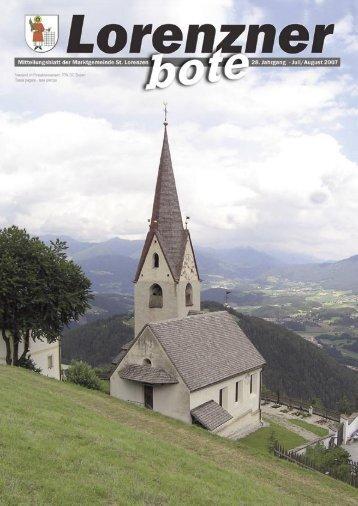 Lorenzner Bote - Ausgabe Juli/August 2007 (2,00 MB)