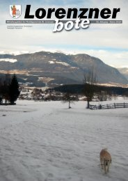 Lorenzner Bote - Ausgabe Jänner 2010 (1,41 MB