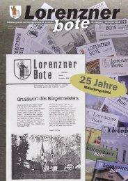 Lorenzner Bote - Ausgabe November 2005 (2,55 MB) (0 bytes)