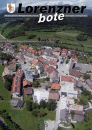 Lorenzner Bote - Ausgabe Juli/August 2011 (2,16 MB)